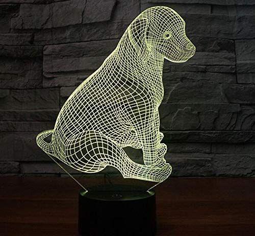 3d Hunde Optische Illusions Lampen Led Licht Led Lampen