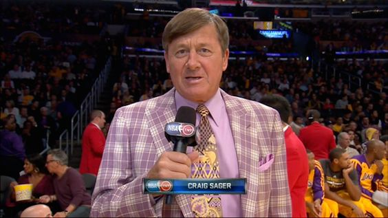 Craig Sager .... There is not too much to say about this masterpiece.