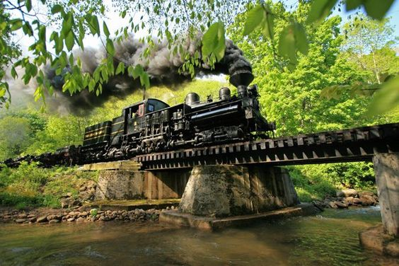 """railroad art museum Full Record for """"Pacific Coast Shay Locomotive No. 2 Crossing Leatherbark Run in West Virginia (editor's title)"""""""
