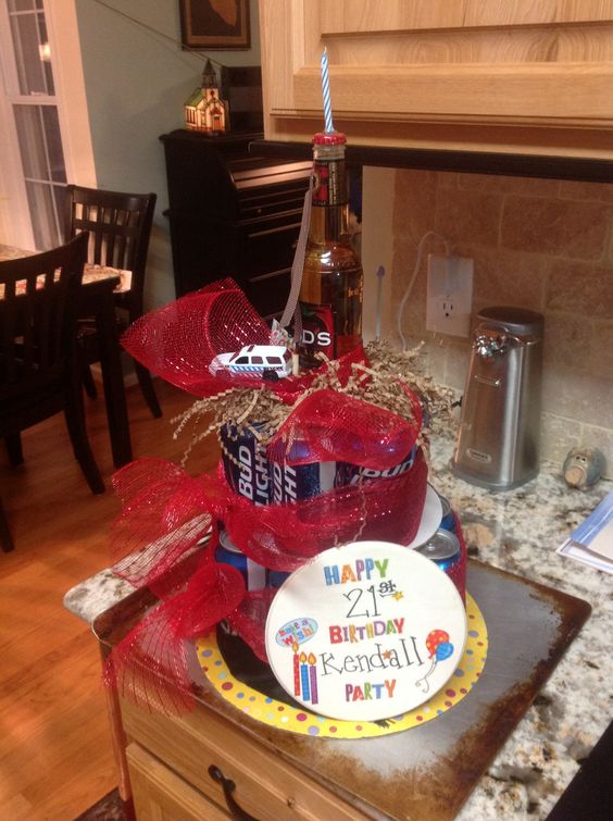 Beer Cake 21 Birthday