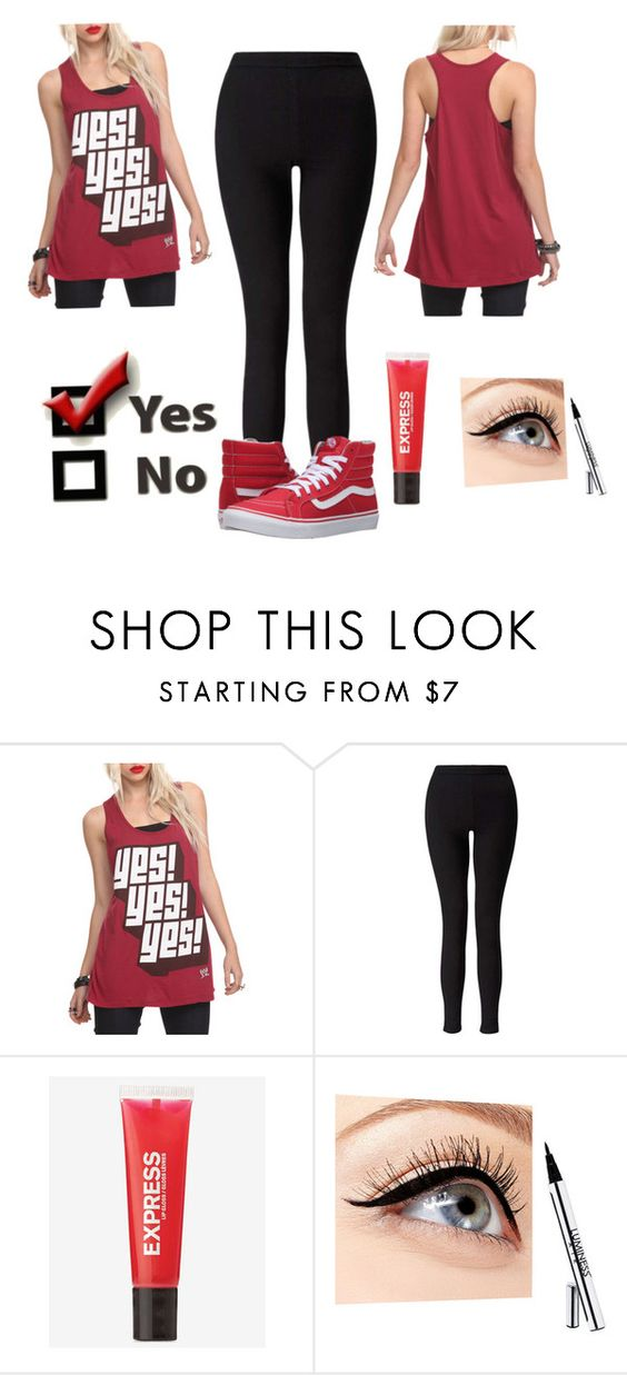 """YES!"" by isabelle-dixon ❤ liked on Polyvore featuring Miss Selfridge, Express, Luminess Air, Vans, YES and yesstyle"
