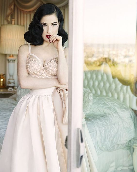 "Dita Von Teese on Instagram: ""Wearing my Dahlia bodysuit (@nordstrom @bloomingdales). Photo by @johnrussophoto, hair & makeup by me #YourBeautyMark"""