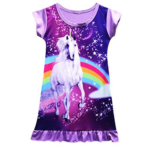 Unicorn Butterfly Girls Kids Pyjamas Nighties Night Wear Party Dress