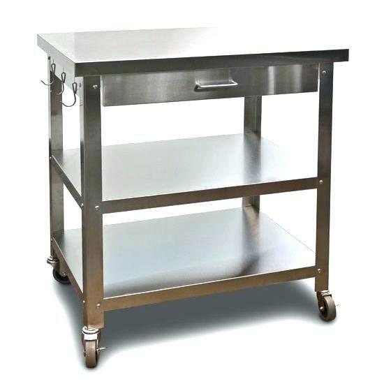 Ikea Cart On Wheels Stainless Steel Kitchen Island Stainless Steel