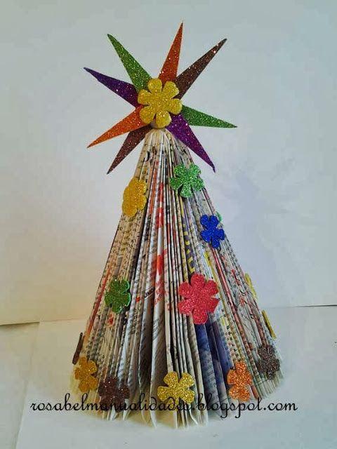 Rosabel manualidades manualidades para ni os con papel - Manualidades con fieltro para navidad ...