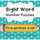 Sight Word Puzzles    $