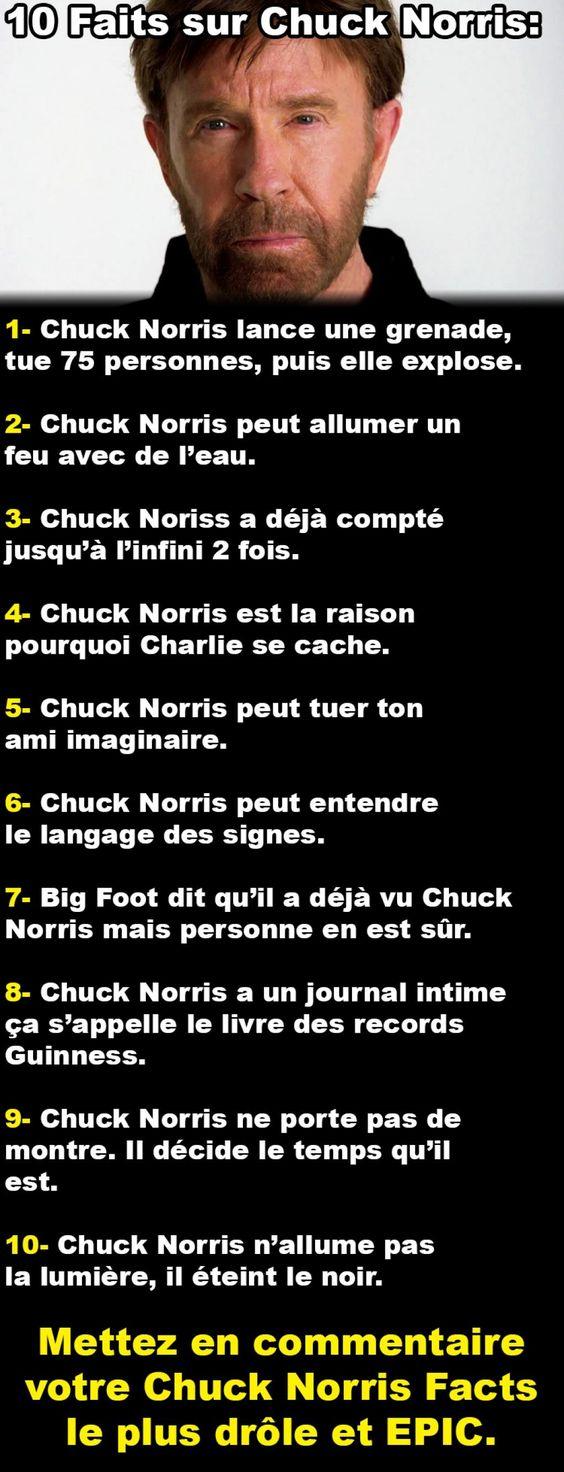 10 Petits Faits sur Chuck Norris - Histoire - Soyez comme SImon