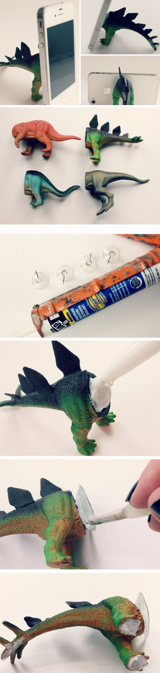 Dino iphone tripod click pic for 23 diy christmas gifts for Diy crafts for guys