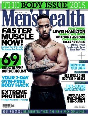 Lewis Hamilton estrela capa de revista masculina (Foto: Reprodução/Facebook)