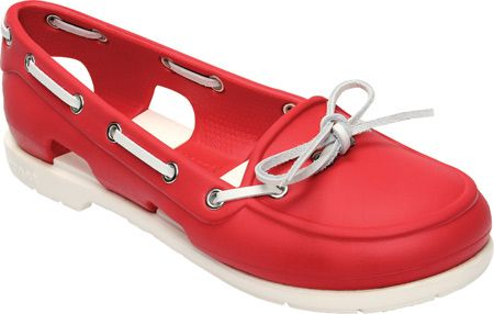 womens boat shoes red