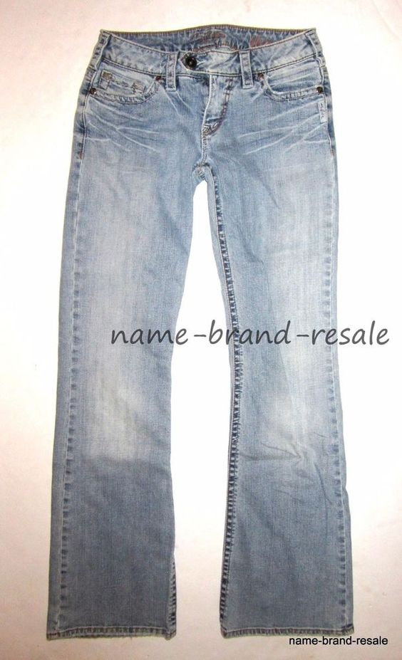 Details about SILVER JEANS Tina Womens 27 x 33 DISTRESSED Bootcut ...