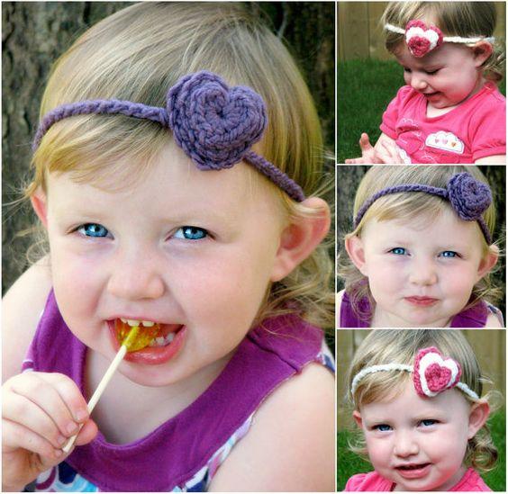 Crochet Headband Pattern - Loving Hearts - 3 Layer Heart Headband ...