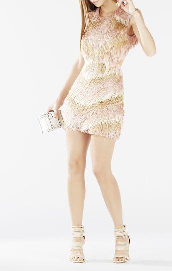 Ondria Open Back Fringe Dress