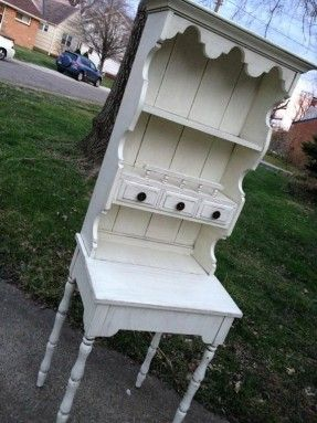 Shabby Chic Secretary Desk with Hutch by BelleMaisonBoutique, $225.00