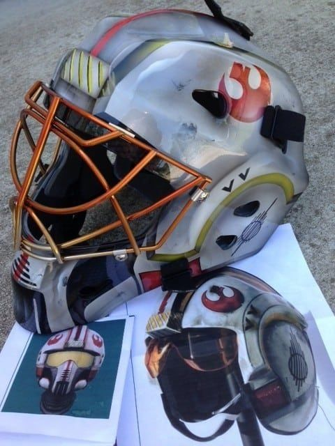 Pin By Anna Logacheva On Nshvel In 2020 Hockey Goalie Pads Star Wars Helmet Goalie Mask