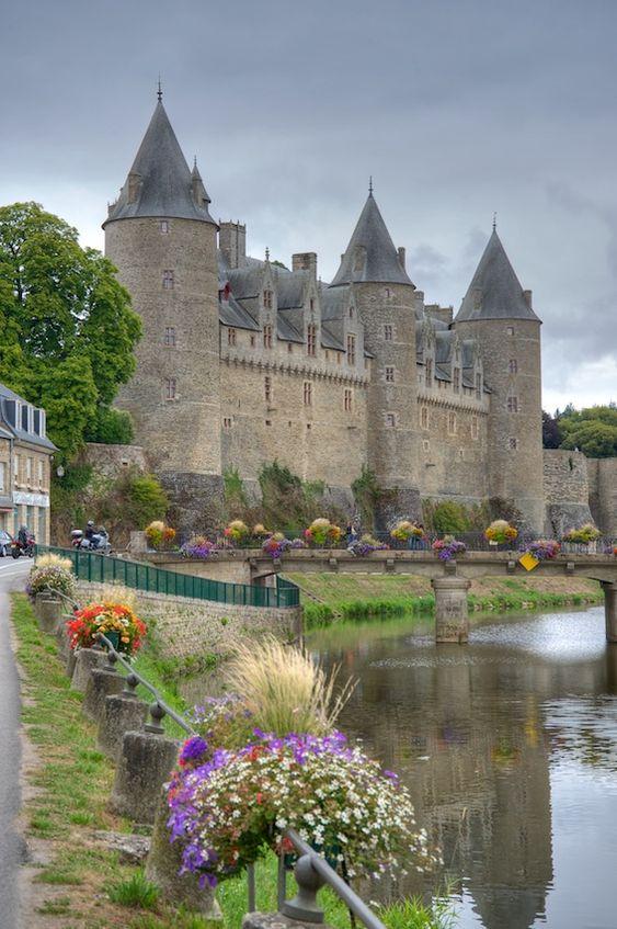 Medieval Chateau de Josselin, Morbihan, Brittany, France: