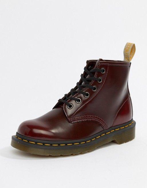 Dr Martens VEGAN 1460 Red Mens Ankle boots