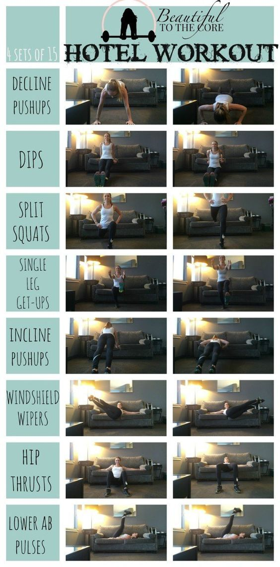 My hotel room workout to stay fit while traveling