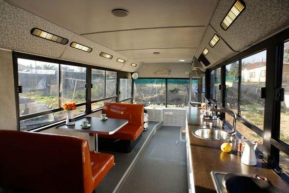 Interior of Tiny House Bus