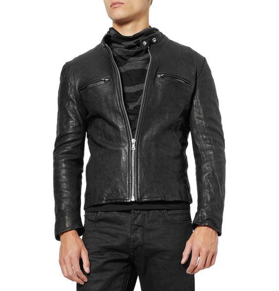 Jean Shop - Fitted Leather Jacket | Menswear | Outerwear ...