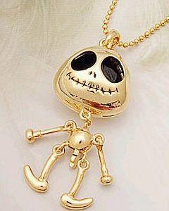 """Collier d'été """"Skeletor"""" de couleur or de la collection little-susie.fr Tarif : 6 euros"""