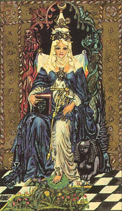 The High Priestess - Medieval Scapini Tarot