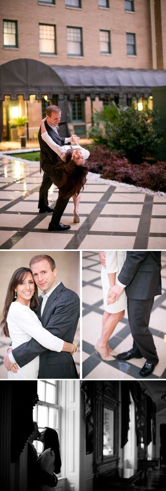 Rainy Romantic Engagements, The Stoneleigh Hotel, Dallas Texas, Dancing in the rain.