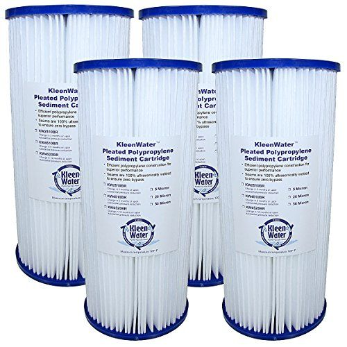 Fxhsc Whkf Whplbb And Ecp5 Bb Compatible Water Filter Replacement Cartridges 5 Micron Kleenwater Kw4510br 4 5 X 10 In Water Filter Sink Water Filter Filters