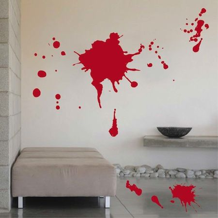 blood splash decals stickers trendy wall designs