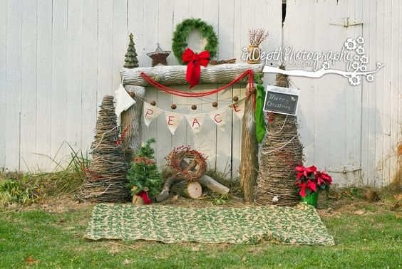 Rustic Christmas Scene. Backgrounds and Photogrpahy