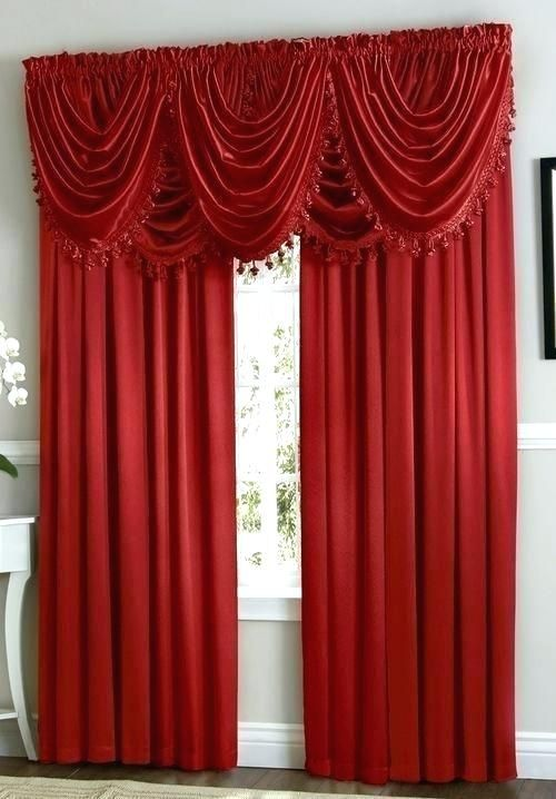 Sample Waterfall Valance Curtain Set Photograph Curtains Bedroom Decor For Couples Home Theater Decor