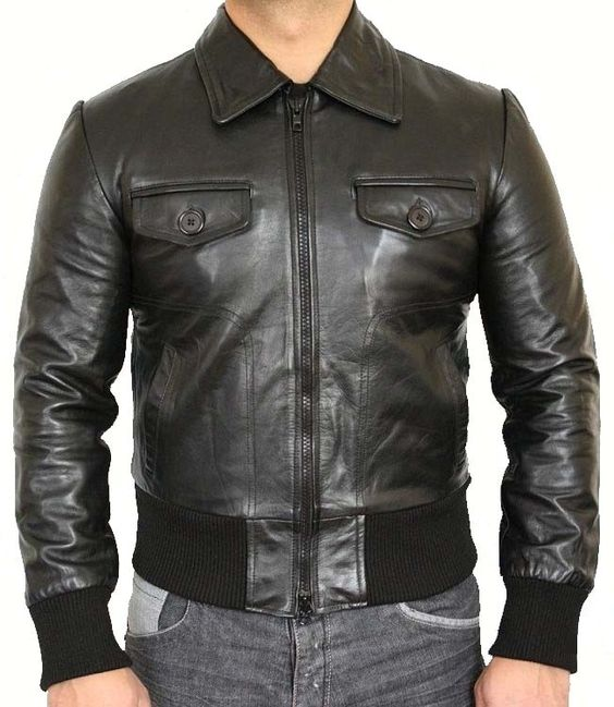 Vintage style leather Jacket - Leather Jacket Uk