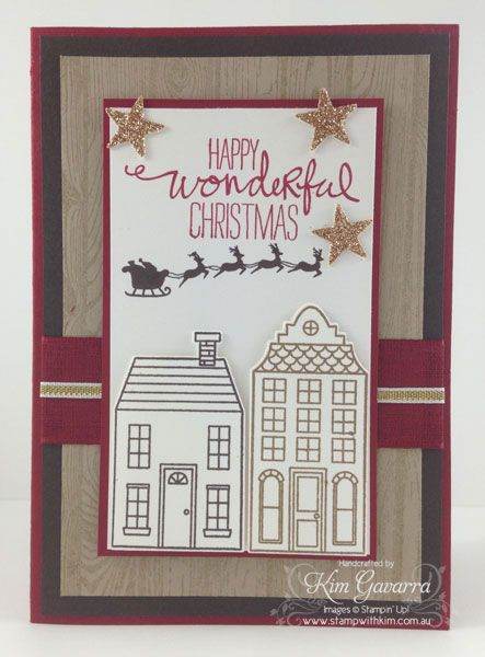 Stampin' Up! Holiday Home Christmas Card www.stampwithkim.com.au Stampin' Up! Australia