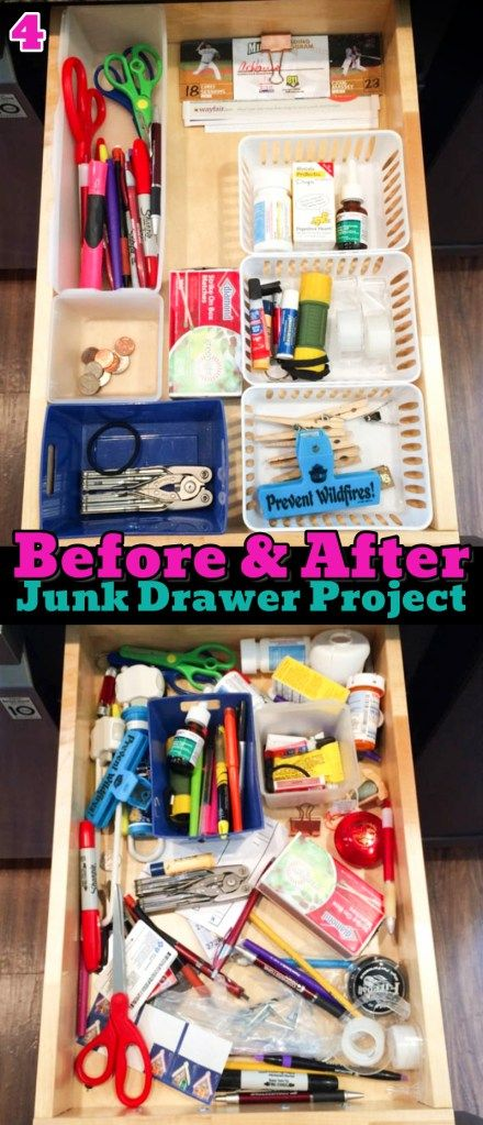 Junk Drawer Organization Tips Genius Organizing Ideas For All Junk Drawers Decluttering Your Life Junk Drawer Organizing Junk Drawer Organize Drawers