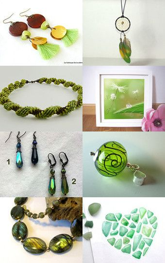 Pantone 2016 Green Flash by Guilaine Grémy on Etsy--Pinned with TreasuryPin.com