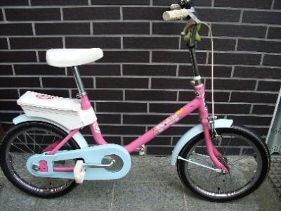 Kinder-Fahrrad, rosa incl. Stützräder und Fahrradpumpe Gr. 14 Zoll Reifen