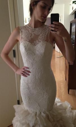 Vera Wang Lark: buy this dress for a fraction of the salon price on PreOwnedWeddingDresses.com