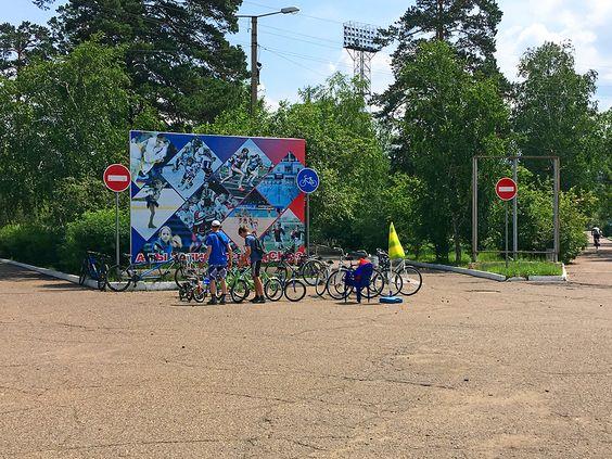 Прокат велосипедов на стадионе. Фото: Evgenia Shveda