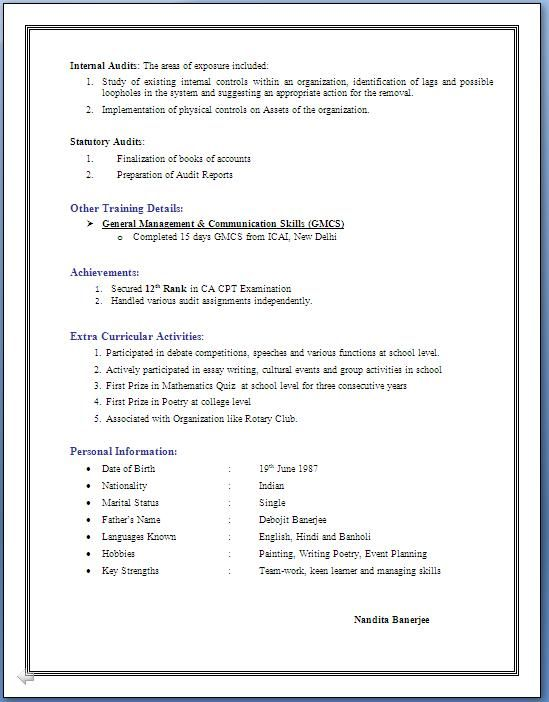 4 Years Experience Resume Format Resume Template Job Resume Template Resume Format