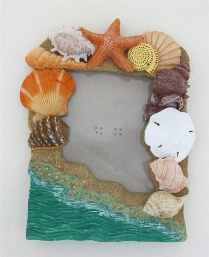 Pleasant Seashell Resin Beach Picture Frame 4 X 6 Home Decor Ocean Shells Largest Home Design Picture Inspirations Pitcheantrous