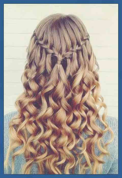 25 Wunderschone Wasserfall Frisuren Susse Lange Frisuren Wasserfallgeflechte Sind Ein Hair Styles Down Hairstyles For Long Hair Prom Hairstyles For Long Hair