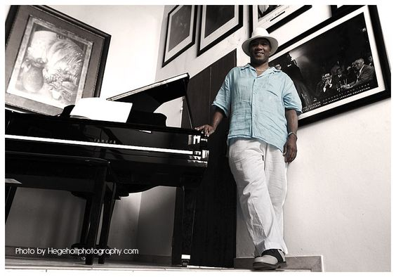Portrait session and interview with jazz vocalist Anthony Jefferson in his home in Sosua, Dominican Republic