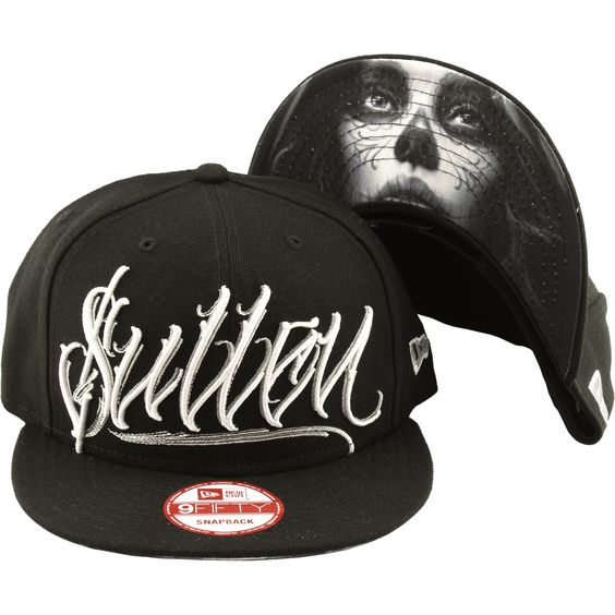 Inked Boutique - Dark Grey Snapback Hat  Tattoo Art Lifestyle Day of the Dead Girl  www.inkedboutique.com