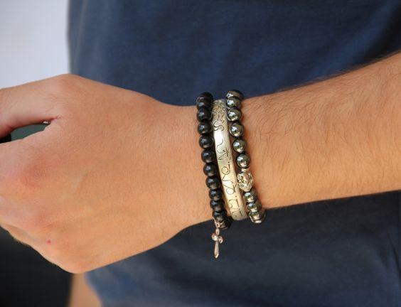 bracelet homme manille et cordon cir ajustable bracelets et bijoux. Black Bedroom Furniture Sets. Home Design Ideas