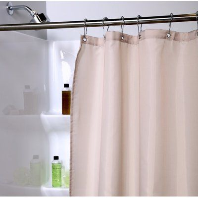 Rebrilliant Lippa Microban Single Shower Curtain Liner Fabric