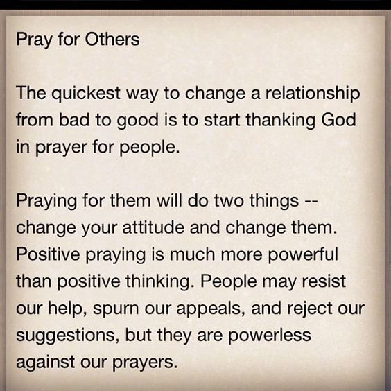 """Powerless against our prayers""--I like that!"
