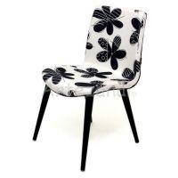 Cadeira Tiffany Branco/Preto Romero Britto