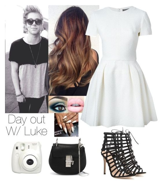 """Day out w/ Luke"" by directioner66234 ❤ liked on Polyvore featuring Alexander McQueen, Gianvito Rossi and Chloé"