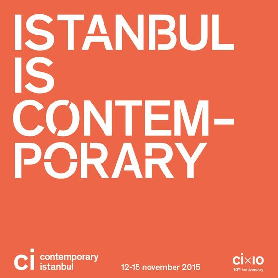 Contemporary Istanbul International Art Fair 1⃣2⃣➖1⃣5⃣ November Save the date. #CI15 #10thYear #CICountdown #art #premier #fair #istanbul #international #gallery #exhibition #exhibitor #contemporary #contemporaryart #thesofahotel #official #accommodation #sponsor