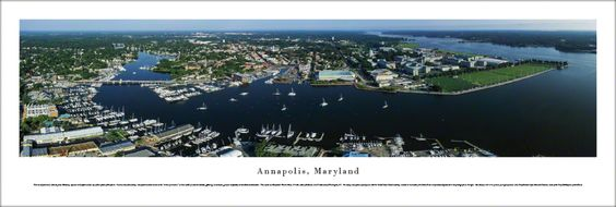 Annapolis, Maryland Panoramic Skyline Picture - Unframed $29.95